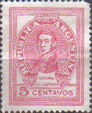 [Definitive Issue, General San Martin, Typ HJ]