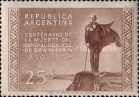 [The 100th Anniversary of the Death of San Martin, 1850-1950, Typ LI]