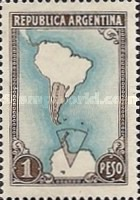 [Map -  South America and Antarctic, Typ LU]