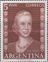 [Eva Peron, type MS]