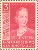 [The 2nd Anniversary of the Death of Eva Peron, Typ NC]