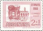 "[Airmail - Inter-American Philatelic Exhibition, Buenos Aires, ""EFIMAYO"" and the 150th Anniversary of the Revolution, type RR]"