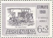 "[Airmail - Inter-American Philatelic Exhibition, Buenos Aires, ""EFIMAYO"" and the 150th Anniversary of the Revolution, type RS]"