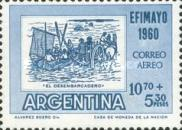 "[Airmail - Inter-American Philatelic Exhibition, Buenos Aires, ""EFIMAYO"" and the 150th Anniversary of the Revolution, type RT]"