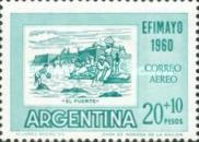 "[Airmail - Inter-American Philatelic Exhibition, Buenos Aires, ""EFIMAYO"" and the 150th Anniversary of the Revolution, type RU]"