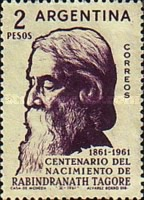 [The 100th Anniversary of the Birth of Rabindranath Tagore, Indian Poet, Typ TG]