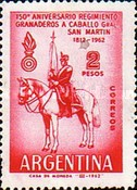 [The 150th Anniversary of the Mounted Grenadiers of General San Martin, Typ TW]