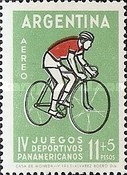 [Airmail - The Fourth Pan-American Games, Sao Paulo, Typ UX]
