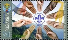 [EUROPA Stamps - The 100th Anniversary of the Scout Movement, type SC]