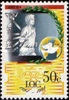 [The 100th Anniversary of the International Olympic Committee, type EF]