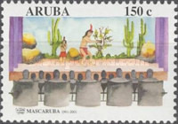 [The 40th Anniversary of Mascaruba (Amateur Theatre Group). Depicting Scenes from Macuarima, History or Legend? (Musical Play), Typ JJ]