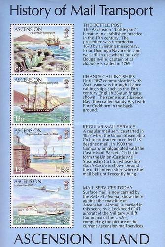 [History of Mail Transport - Ships -International Stamp Exhibition