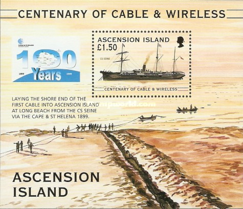 [The 100th Anniversary of Cable & Wireless Communications plc on Ascension, Typ ]