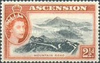 [Queen Elizabeth II and Views of Ascension, type AB]