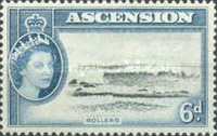 [Queen Elizabeth II and Views of Ascension, type AE]