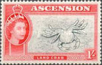 [Queen Elizabeth II and Views of Ascension, type AG]