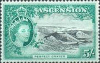 [Queen Elizabeth II and Views of Ascension, type AI]