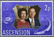 [The 25th Anniversary of the Wedding of Queen Elizabeth II and Prince Philip, type DF]