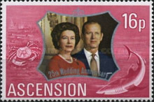 [The 25th Anniversary of the Wedding of Queen Elizabeth II and Prince Philip, Typ DF1]