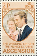 [Royal Wedding of Princess Anne and Mark Phillips, type DR]