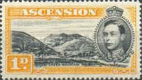 [King George VI and Views of Ascension, type F2]
