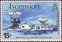 """[""""Space Shuttle"""" Mission and Opening of 2nd Earth Station, type HH]"""