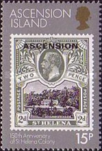 [The 150th Anniversary of St. Helena as a British Colony, Typ KH]