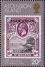 [The 150th Anniversary of St. Helena as a British Colony, Typ KI]
