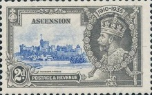 [The 25th Anniversary of the Accession of King George V, Typ M1]