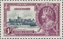 [The 25th Anniversary of the Accession of King George V, Typ M3]
