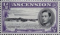 [King George VI and Views of Ascension, Typ O2]