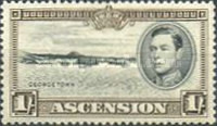 [King George VI and Views of Ascension, type O3]