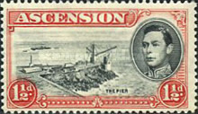 [King George VI and Views of Ascension, type P4]