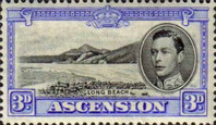 [King George VI and Views of Ascension, type Q]