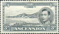 [King George VI and Views of Ascension, type Q1]