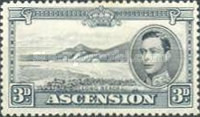 [King George VI and Views of Ascension, type Q3]