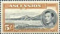 [King George VI and Views of Ascension, type Q4]