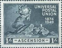 [The 75th Anniversary of Universal Postal Union (U.P.U.), type V]
