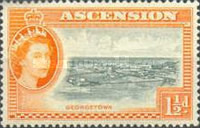 [Queen Elizabeth II and Views of Ascension, type Z]