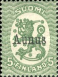 [Finish Postage Stamps Overprinted