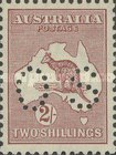 [Kangaroo and Map - Postage Stamps Perforated