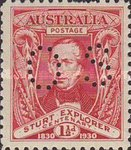 [The 100th Anniversary of the Sturt Expedition - Postage Stamp Perforated