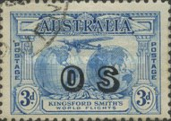 [Charles Kingsford Smith's World Flights - Postage Stamps Overprinted