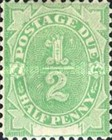 [Numeral Stamps - White Field At Bottom, type A]