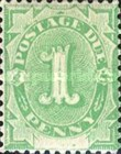 [Numeral Stamps - White Field At Bottom, type A1]
