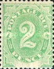 [Numeral Stamps - White Field At Bottom, type A2]