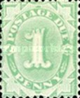 [Numeral Stamps - Frame Fully Colored, type B1]