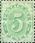 [Numeral Stamps - Frame Fully Colored, type B5]