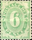 [Numeral Stamps - Frame Fully Colored, type B6]