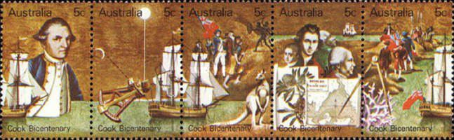 [The 200th Anniversary of the First European Contact with East Coast of Australia by Captain James Cook, type ]